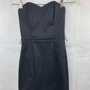 H&M Black Strapless Dress Size 4